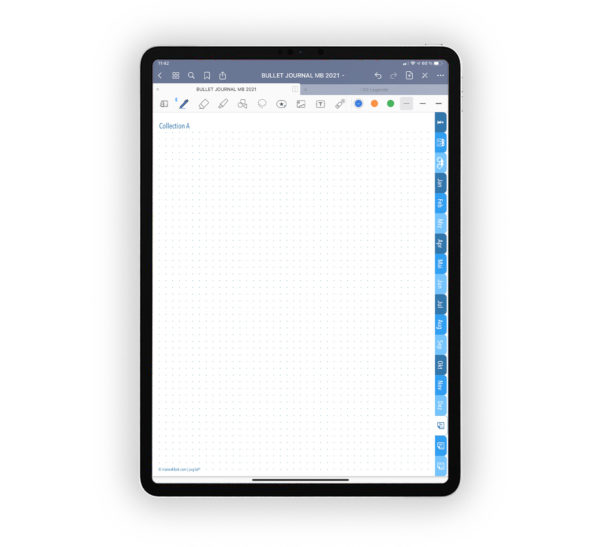 Produktgalleriebild für Shop Bullet Journal mit Register blau für iPad 11.0 Collection