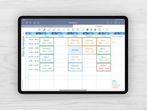 Produktbild für Shop Lehrerplaner 2020/2021 Muster Long Journal Kalender Stundenplan Blau für iPad 11.0 mit EmoLog, Notizen und Journaling Muster