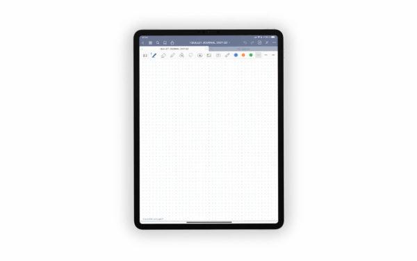 Bild (jpg) zeigt eine Vorlage mit Punkten des blauen Bullet Journals