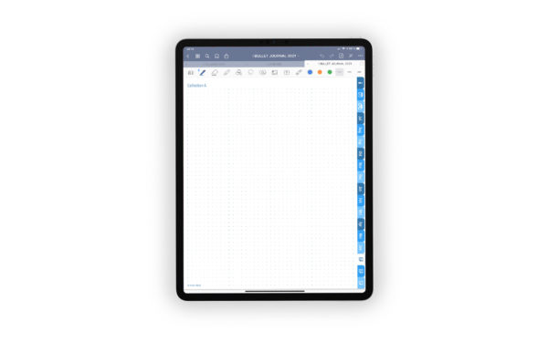 Produktgalleriebild fuer Shop Bullet Journal mit Register blau fuer iPad 11.0 Collection